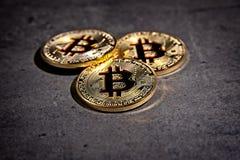 Mynt för BTC Bitcoin Arkivbilder