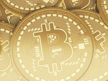 mynt för 3d Bitcoin Cryptocurrency begrepp Royaltyfria Foton