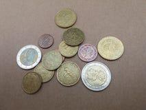 Mynt för euro EUR Royaltyfri Foto