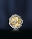 Mynt för euro två arkivfoto
