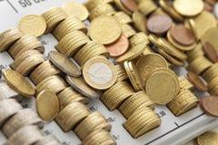 Mynt för europeisk union Royaltyfria Bilder