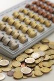 Mynt för europeisk union Arkivfoton