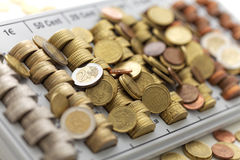 Mynt för europeisk union Royaltyfri Fotografi