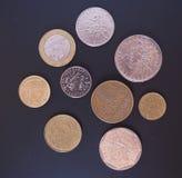 Mynt för fransk franc Fotografering för Bildbyråer