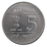Mynt för indisk rupie Arkivbilder