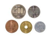 Mynt för japansk yen arkivfoton