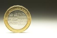 Mynt för pund för UK-valuta två Royaltyfria Bilder