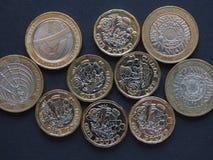 mynt för pund 2, Förenade kungariket Arkivfoton