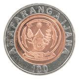 Mynt för Rwanda franc Arkivfoto