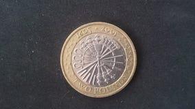 Mynt för täppa £2 för vapenpulver Royaltyfria Bilder