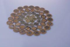 Mynt för turkisk Lira formar en rund cirkelform Arkivbild