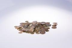 Mynt för turkisk Lira formar en rund cirkelform Royaltyfri Foto
