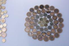 Mynt för turkisk Lira formar en rund cirkelform Royaltyfri Bild