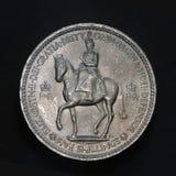 mynt fem shilling Arkivbilder