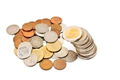 Mynt från thailand Royaltyfri Bild