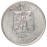 Mynt för fjärdedeldollar Arkivfoton