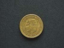 Mynt för svensk Krona 10 (SEK), valuta av Sverige (SE) Fotografering för Bildbyråer