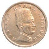 Mynt för turkisk Lira Fotografering för Bildbyråer
