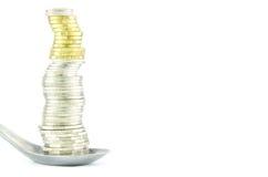 Mynt i sked Arkivbild