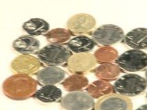 mynt isolerad white för övre sikt för stapel stock video