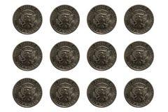 mynt isolerade vita USA Royaltyfri Foto