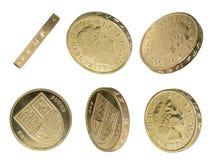 mynt isolerat pund uk Royaltyfri Fotografi