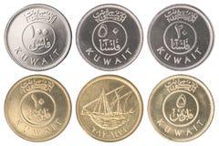 Mynt Kuwait Fils arkivfoton