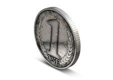 Mynt nummer ett Royaltyfri Fotografi