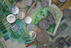 Mynt och sedlar av olika länder Royaltyfri Foto
