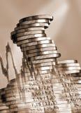 Mynt och valutautbyte Fotografering för Bildbyråer