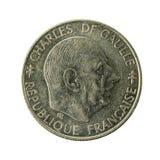 1 mynt 1988 omvända för fransk franc royaltyfria foton