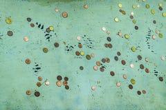 Mynt på Fontana di Trevi, Rome, Italien arkivbilder