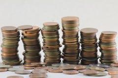 Mynt pengar Fotografering för Bildbyråer
