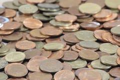 Mynt pengar Arkivbild