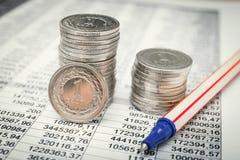 mynt polerar zloty Arkivbild