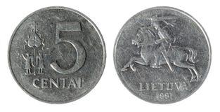 mynt tända lithuania Royaltyfria Bilder