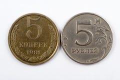 mynt två Royaltyfri Fotografi