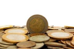 Mynt två euro Arkivbild