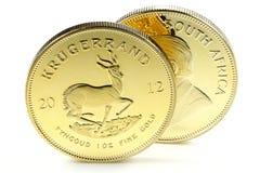mynt 1 uns för guld- guldtacka royaltyfri fotografi