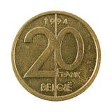 myntavers 1994 för belgisk franc 20 royaltyfria foton