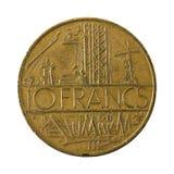 myntavers 1978 för fransk franc 10 royaltyfri fotografi