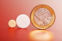 mynteuro en pillsstandig Royaltyfria Bilder