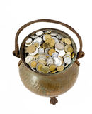 myntkrukatappning Arkivbild