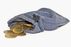 Myntpåse Fotografering för Bildbyråer