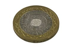 myntpund två Royaltyfri Fotografi