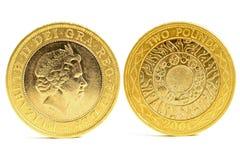 myntpund två Arkivfoton