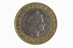 myntpund två Arkivfoto