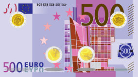 Myntrotation - euro arkivfilmer