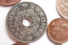 Myntsamling med gamla mynt Arkivbild