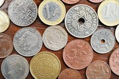 Myntsamling med gamla mynt Royaltyfria Bilder